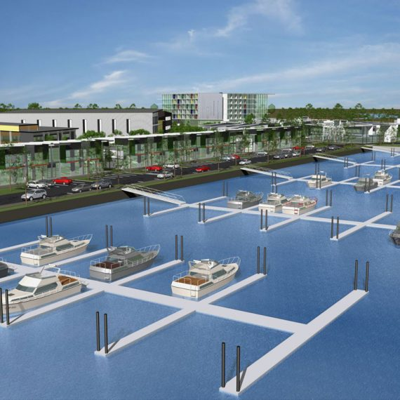 Push Architect gold coast international marine precinct Gold Coast masterplanning architecture