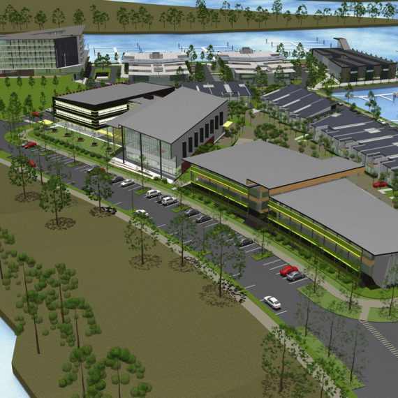 masterplanning architecture gold Coast International Marine precinct Push Architect