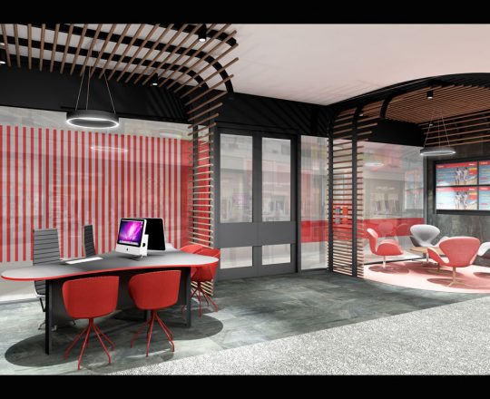 Kina bank Vision City Port Moresby architect Push Wim Architects office fitout interior design