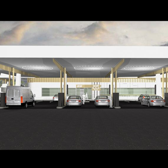 Commercial Architect Service Station Norther New South Wales Queensland Push Architect Kings Forest Service Station