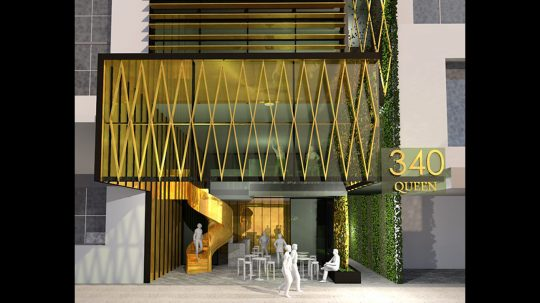 Commercial Concept Push Architecture Queen Street Brisbane CBD Facade Building Entrance