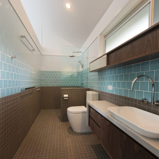Sunshine Coast House Renovation Push Marcus Beach Residence tiled bathroom renovation