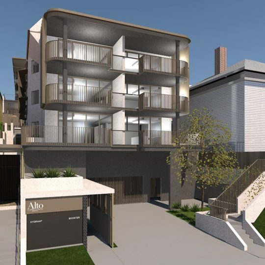 Alto and Tenor Red Hill apartments Brisbane Push Architecture multi residential architecture apartment design brisbane